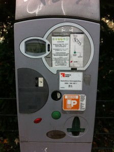 parking ticket vending machine