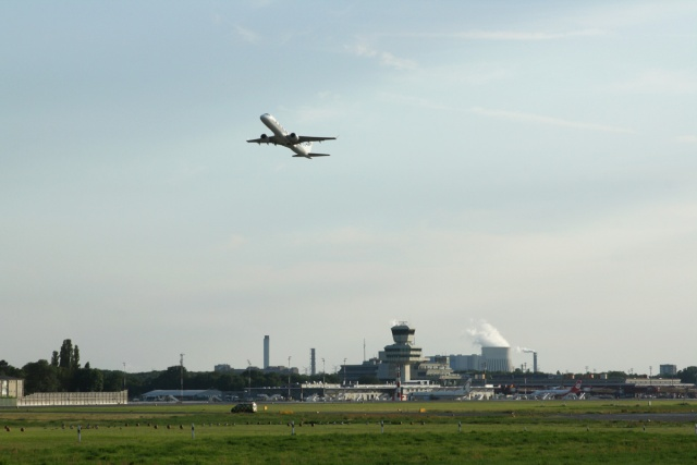 Airport Tegel Berlin plane take-off