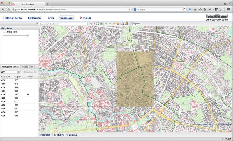 Berlin historical maps navigator
