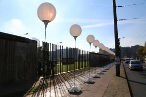 "Berlin Wall and balloons on Bernauer Strasse ""light border"""