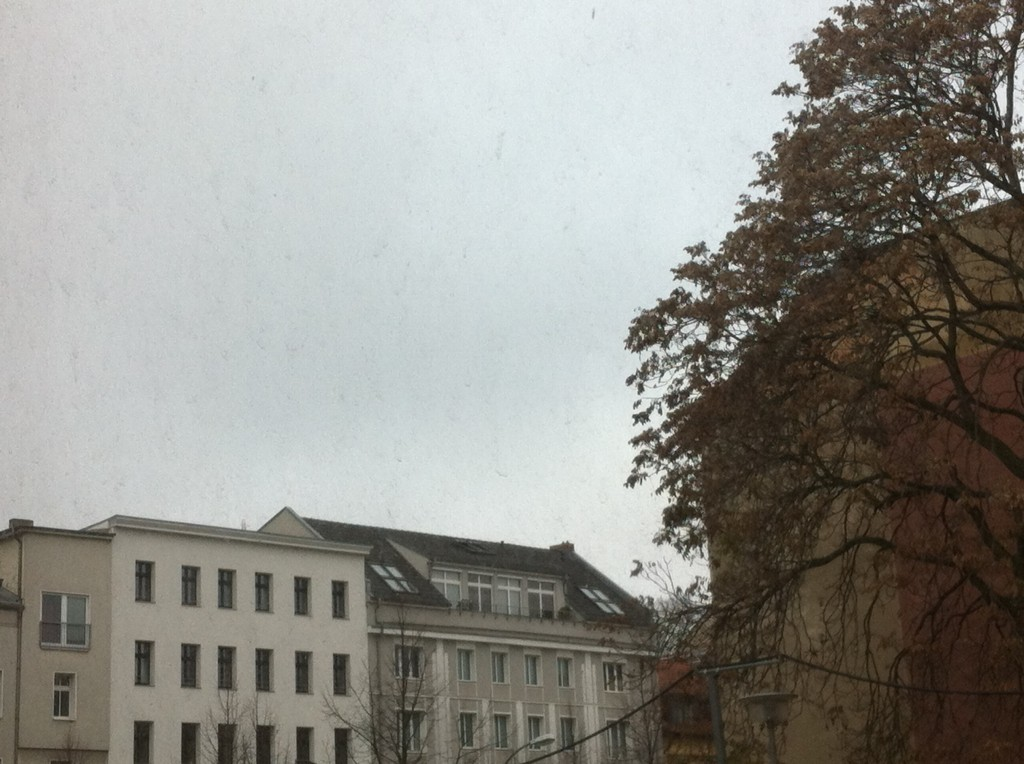 Berlin winter weather: grey skies, one cloud
