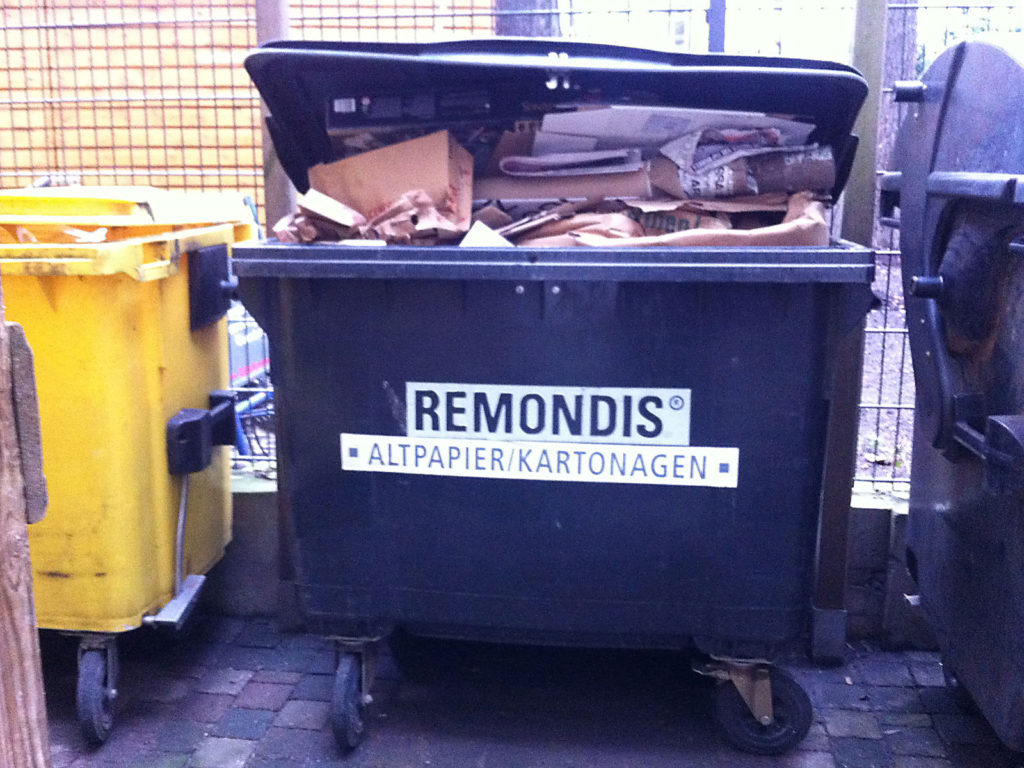 Berlin Paper and Cardboard Boxes Recycling
