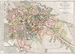 buy historical Berlin map: Berlin historical city center map