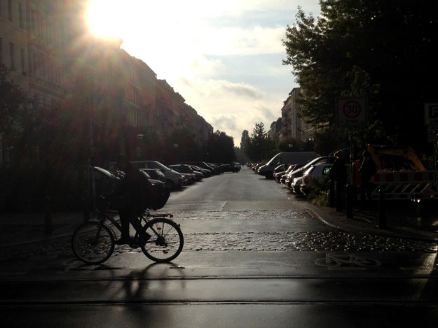 Oderberger Strasse Prenzlauer Berg Berlin Sunset