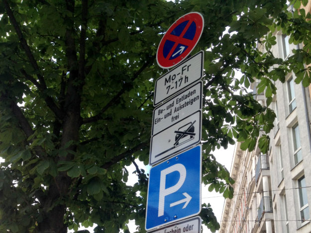 German No Parking Signs explained