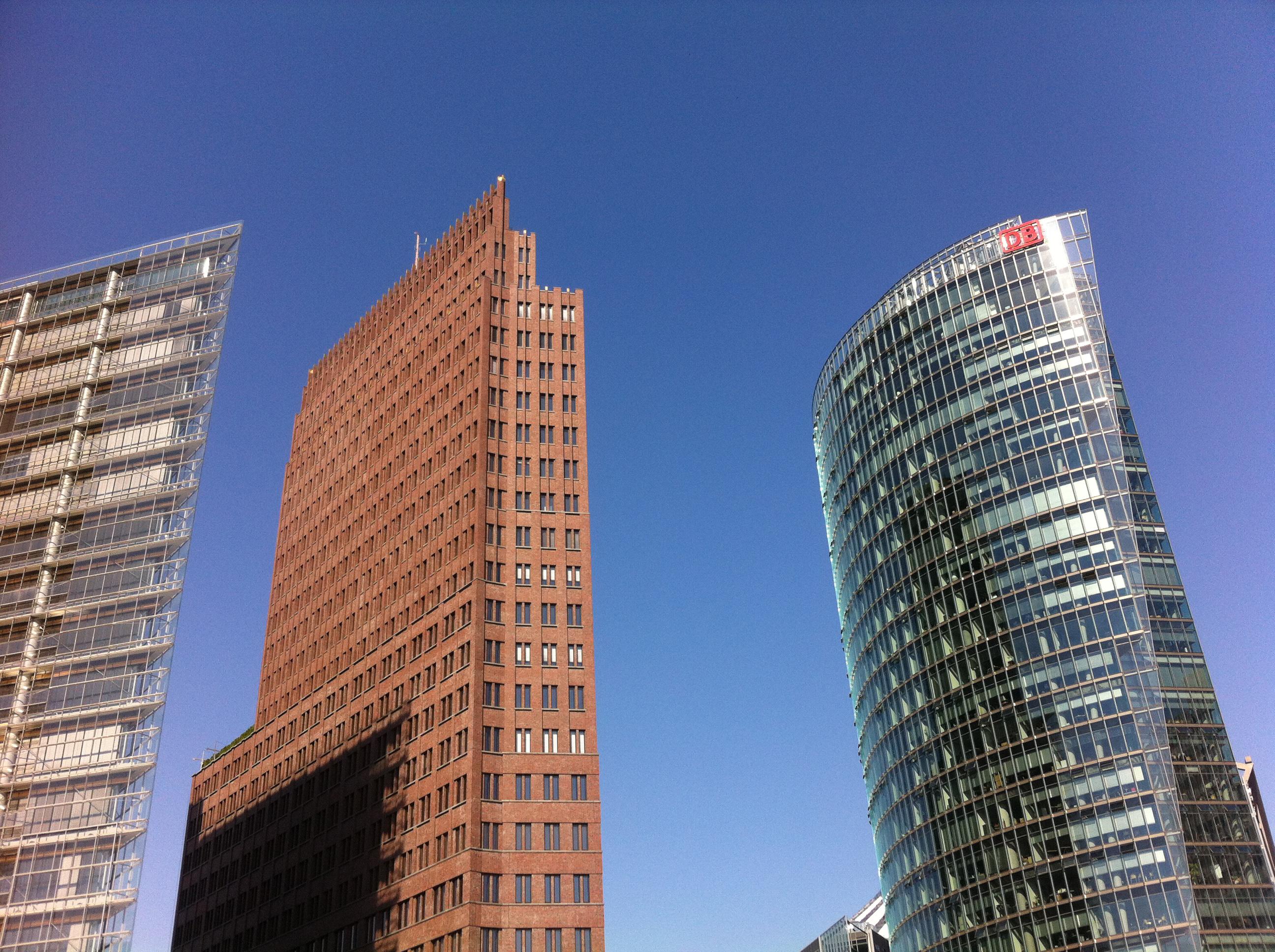 Berlin Potsdamer Platz Skyscraper Buildings