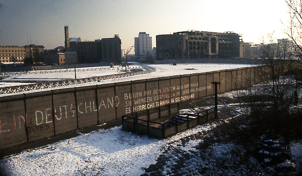 Potsdamer Platz Berlin Wall historical photo 1975