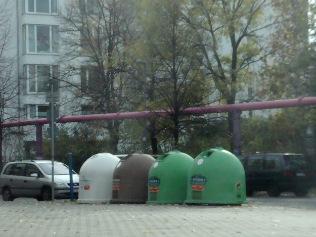 Glass recycling containers in Berlin
