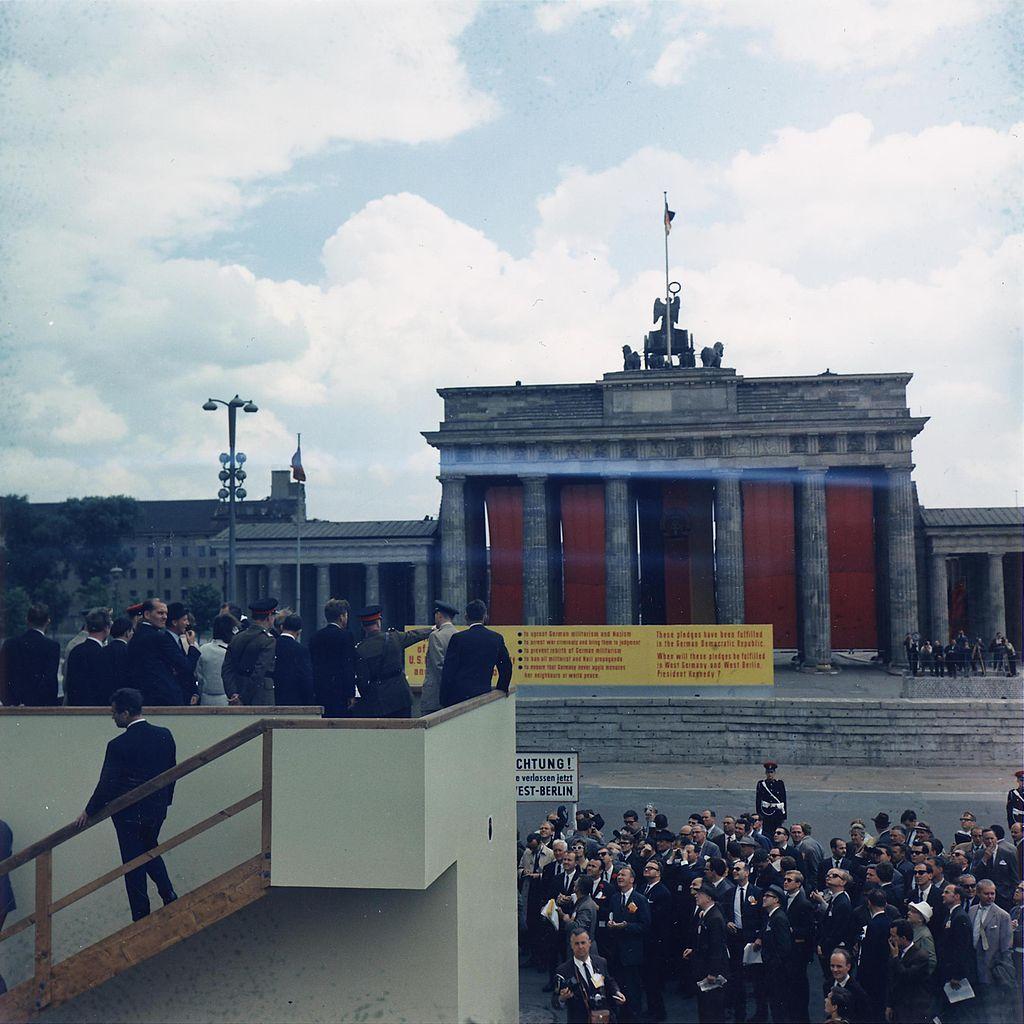 John F. Kennedy at the Berlin Wall / Wall Brandenburg Gate, 1963
