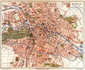 historical map of Berlin public transport tram grid