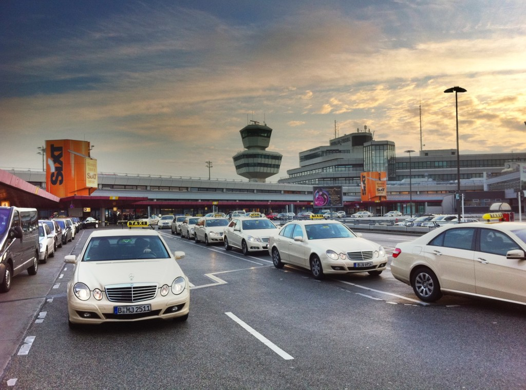 Berlin Taxi stand at Airport Tegel