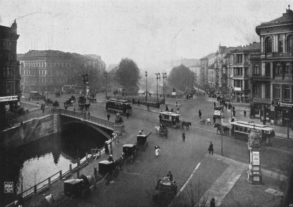 Historical Photo of Potsdam Bridge in Berlin Tiergarten