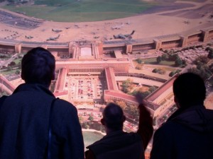 picture of Berlin Airport Tempelhof –housing refugees or fashion event Bread & Butter at