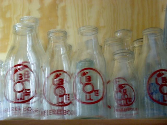 Bolle Logo on Milk Bottles Berlin