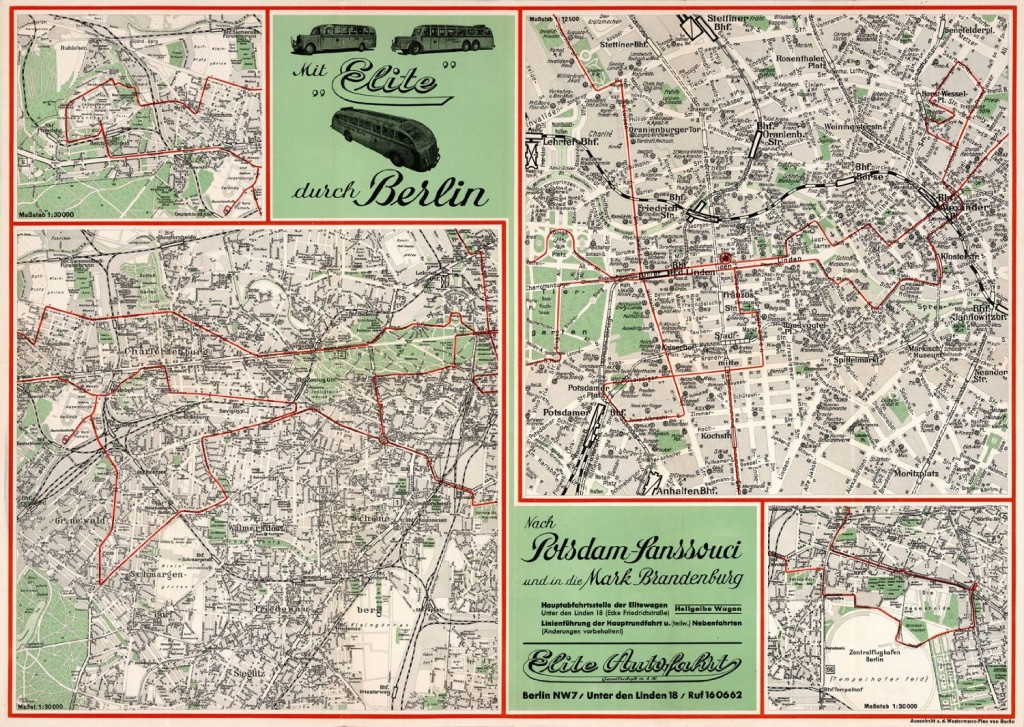 Historical Berlin map: 1937 Berlin Potsdam Elite Touring Map