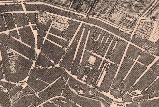 Scheunenviertel Berlin Mitte: Historic Map 1862