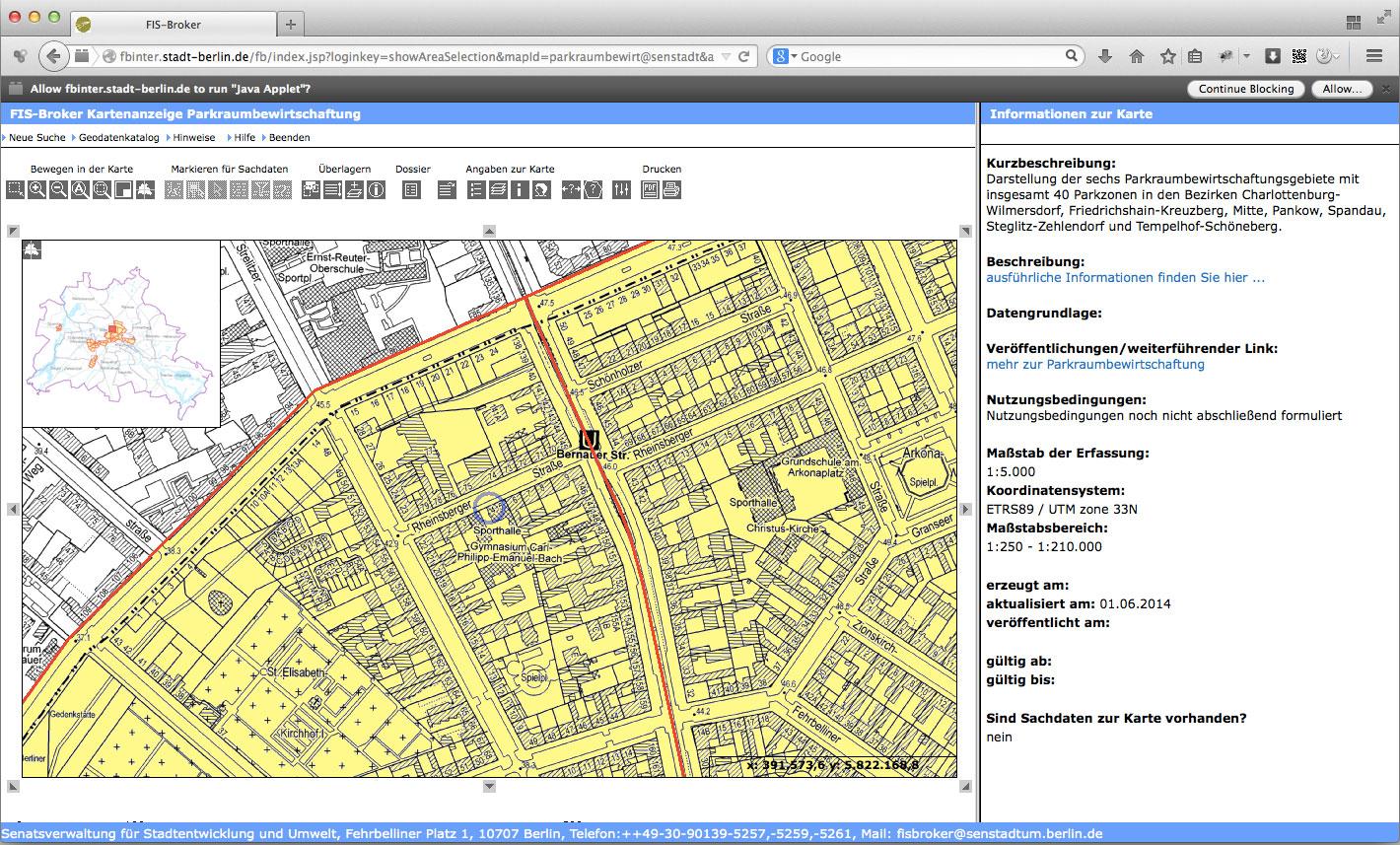 Berlin kostenlos parken parkplatz karte