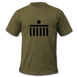 Berlin T-Shirt Brandenburg Gate Star Logo army black