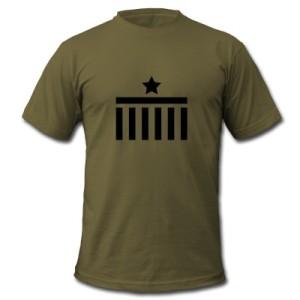 Berlin T-Shirt Brandenburg Gate Star Logo army black