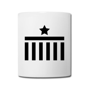 Coffee Mug Brandenburg Gate Star Black Design
