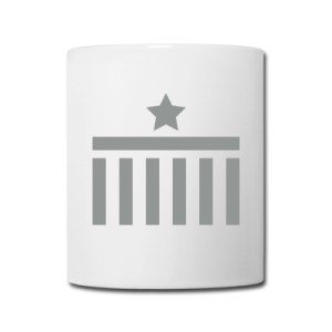 Coffee Mug Brandenburg Gate Star Grey Design