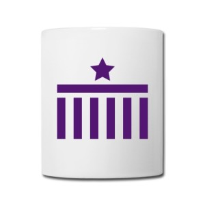 Coffee Mug Brandenburg Gate Star Purple Design