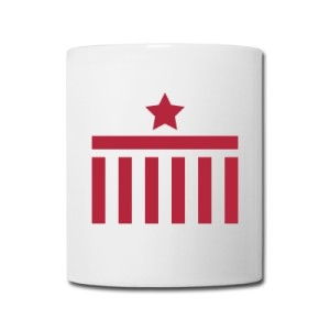 Coffee Mug Brandenburg Gate Star Red Design