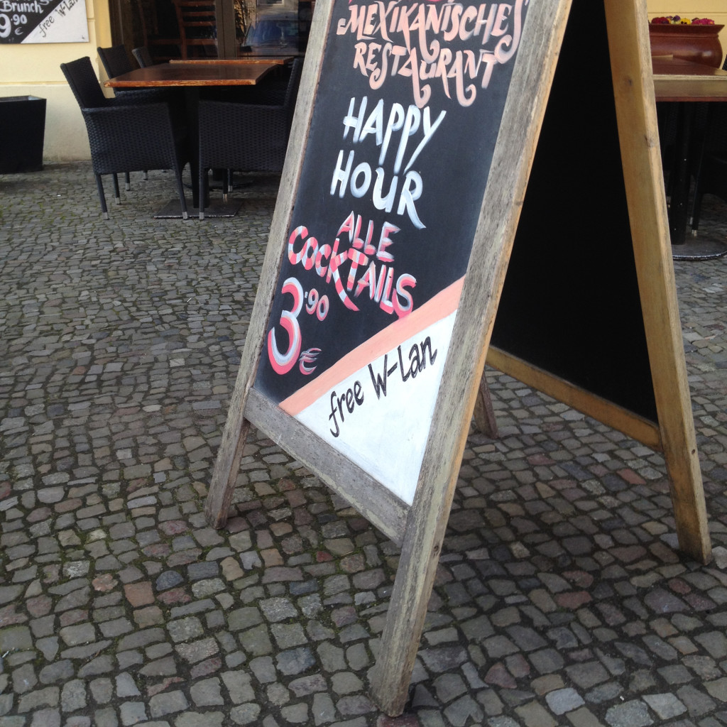 Free Wifi Berlin: free internet access at a restaurant