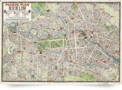 1905 Berlin Vintage Street Map of Berlin Germany