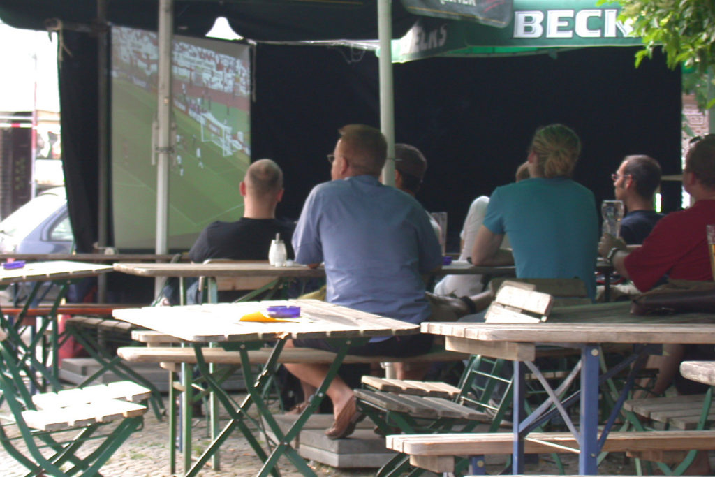 Public Viewing Berlin Beer Garden