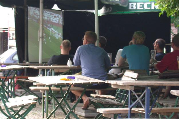 Public Viewing Berlin Beer Garden