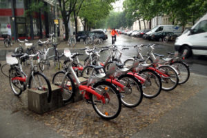 Berlin Bike rental - bicycles in the street