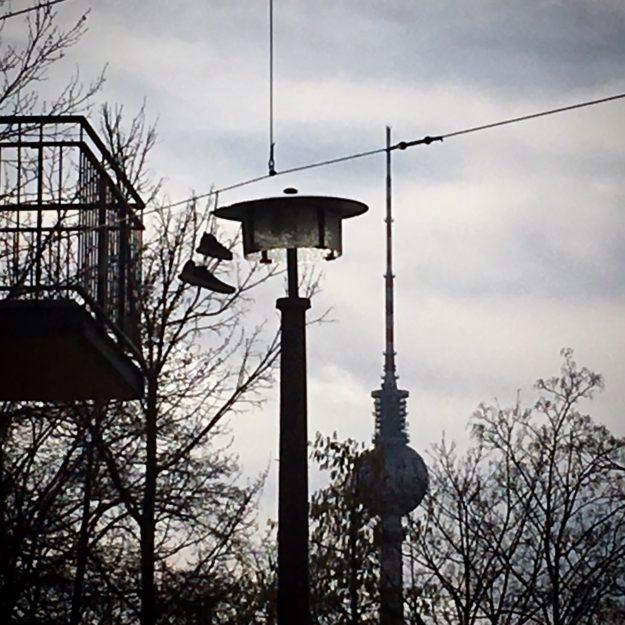 Berlin TV Tower, Sneakers, Street Lamp