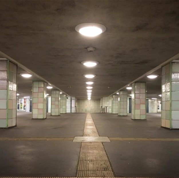 Berlin Kreuzberg: Moritzplatz U-Bahn Station