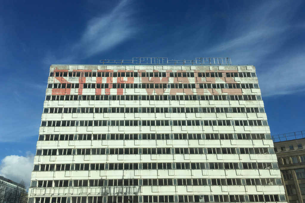 'Stop Wars' near Alexanderplatz