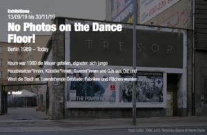 No Photos dance floor exhibition Berlin