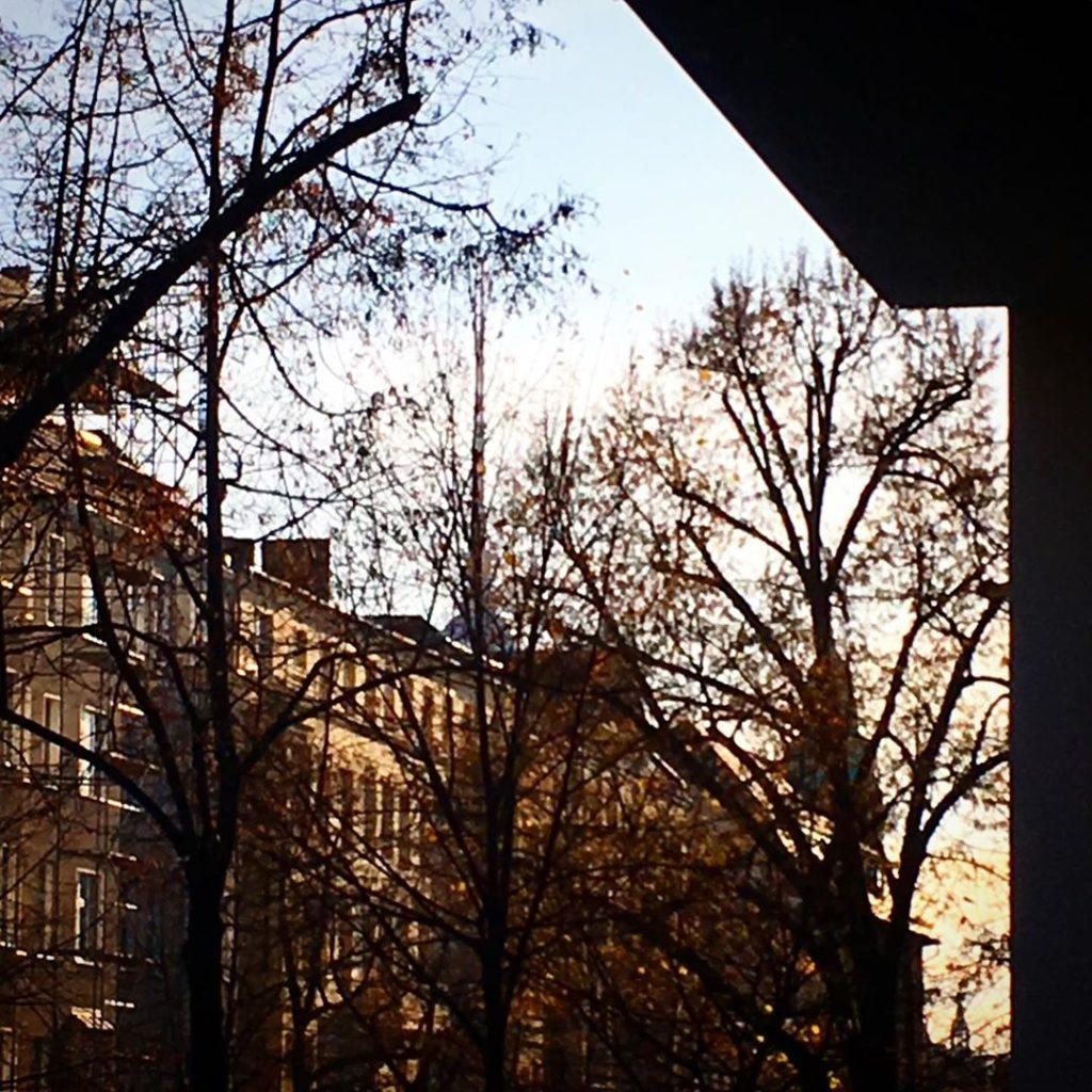 Berlin November sunshine