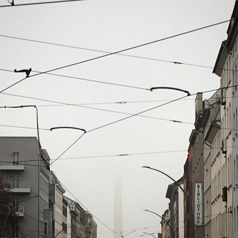 Berlin TV-Tower behind clouds