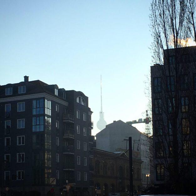 Berlin TV-Tower sunny day December