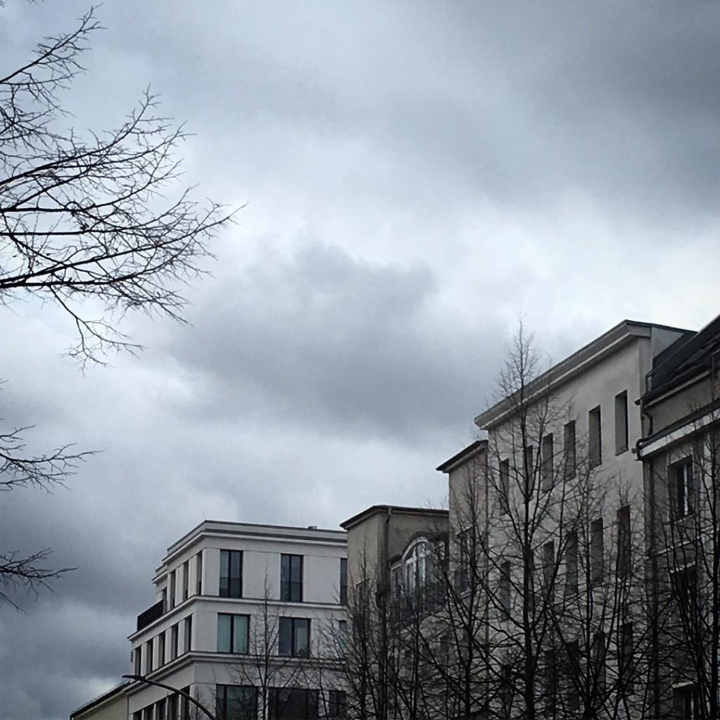 Berlin Grey Clouds Brunnenstrasse