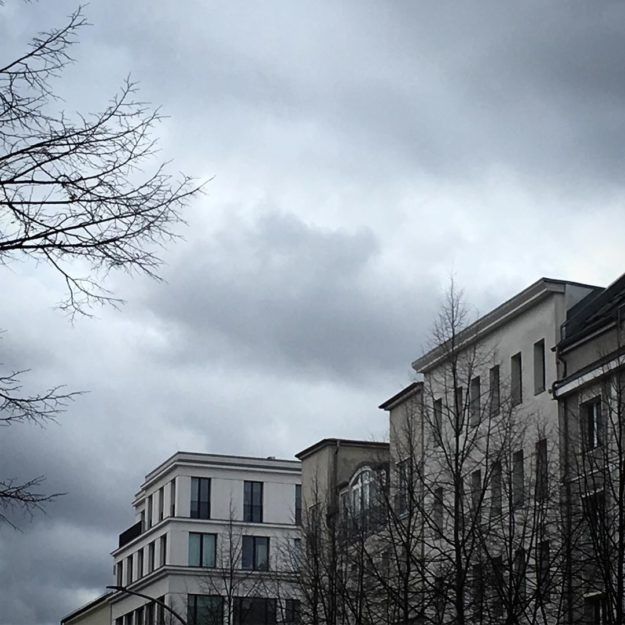 Berlin Grey Clouds Brunnenstrasse