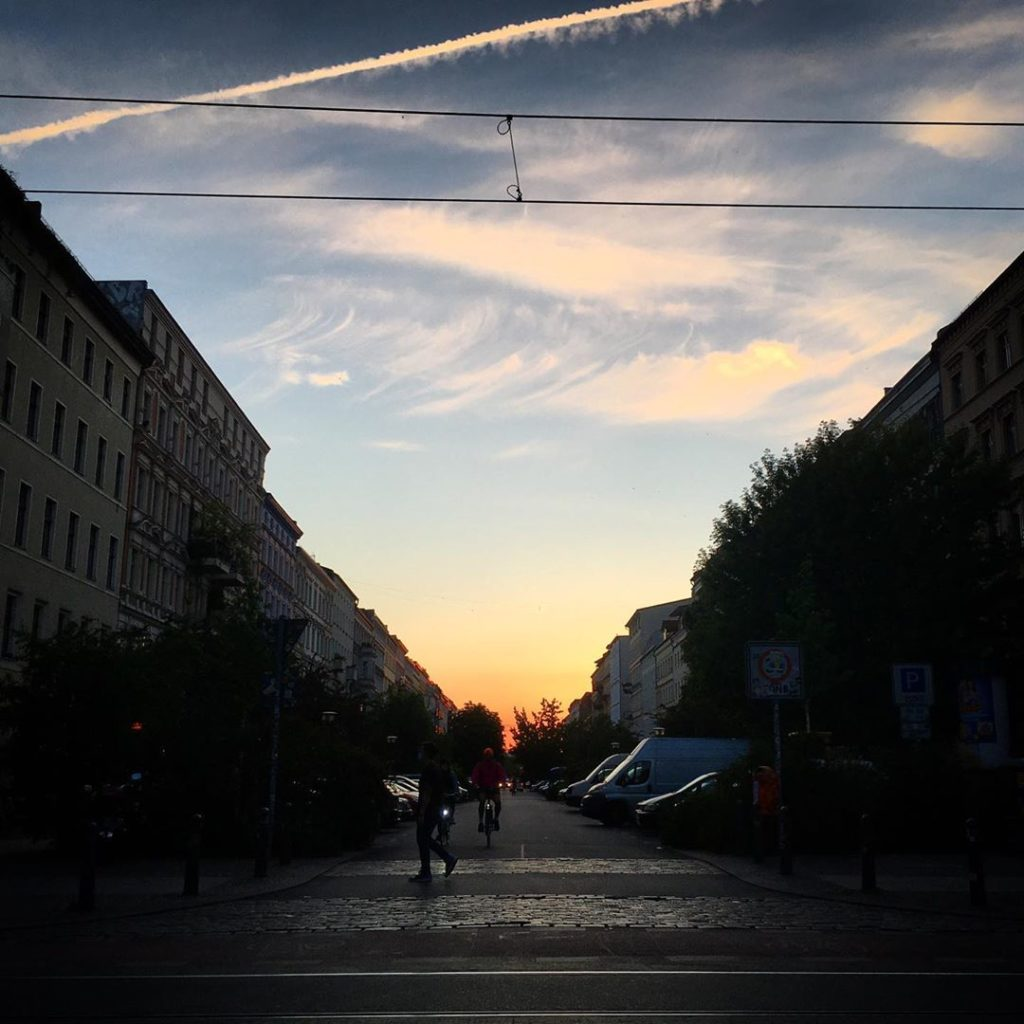 Sunset Oderberger Strasse Berlin