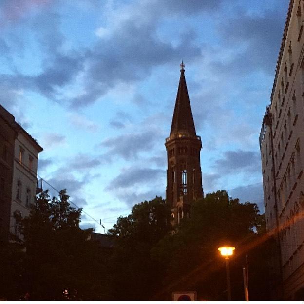 Zionskirche / Evening Sky